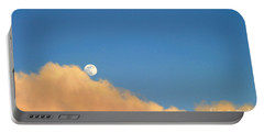 Moon At Sunset Portable Battery Charger