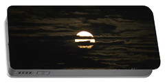 Portable Battery Charger featuring the photograph Moon Behind The Clouds by William Norton