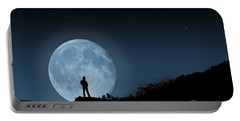 Portable Battery Charger featuring the photograph Moonlit Solitude by Steve Purnell