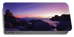 Moonrise Over Tahoe Portable Battery Charger