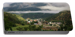 Morning Clouds Over Red River Portable Battery Charger