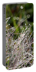 Portable Battery Charger featuring the photograph Morning Dew by Lauren Radke