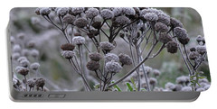 Portable Battery Charger featuring the photograph Morning Frost by Tiffany Erdman