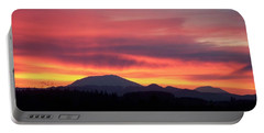 Portable Battery Charger featuring the photograph Morning Glow by Chalet Roome-Rigdon
