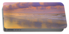 Portable Battery Charger featuring the photograph Morning On The Beach  by Lydia Holly