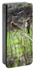 Morning Visitors Portable Battery Charger by Rory Sagner
