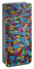 Mosaic Journey Portable Battery Charger by Angelo Thomas