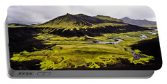 Moss In Iceland Portable Battery Charger