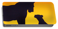 Portable Battery Charger featuring the painting Mother Africa 3 by Michael Cross