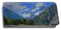 Portable Battery Charger featuring the photograph Mount Cook by David Gleeson