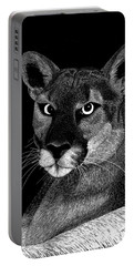 Portable Battery Charger featuring the mixed media Mountain Lion by Kume Bryant