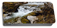 Portable Battery Charger featuring the photograph Mountain Stream by Les Palenik