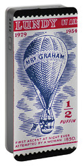Portable Battery Charger featuring the photograph Mrs Graham The Balloonist by Andy Prendy