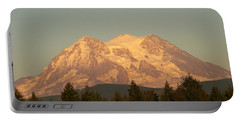 Mt Rainer Sunset Glow Portable Battery Charger