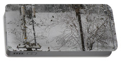 Portable Battery Charger featuring the photograph My Backyard by Donna Brown