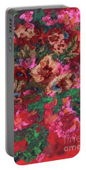 Portable Battery Charger featuring the painting My Sister's Garden I by Alys Caviness-Gober