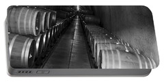 Napa Wine Barrels In Cellar Portable Battery Charger