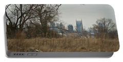Nashville Skyline From The Fort Portable Battery Charger