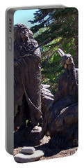 Portable Battery Charger featuring the photograph Native American Statue by Chalet Roome-Rigdon