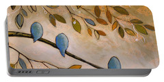 Nature Birds Painting...peaceful Garden Portable Battery Charger by Amy Giacomelli