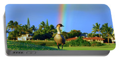 Portable Battery Charger featuring the photograph Nene At The End Of The Rainbow by Lynn Bauer