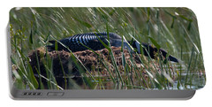 Portable Battery Charger featuring the photograph Nesting Loon by Brent L Ander