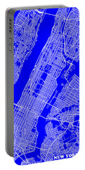 New York City Map Streets Art Print   Portable Battery Charger