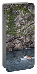 Newfoundland Fishing Boat Portable Battery Charger by Verena Matthew