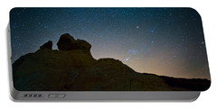 Night Sky Over Valley Of Fire Portable Battery Charger