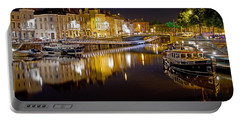 Nighttime Along The River Leie Portable Battery Charger