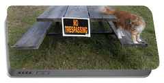 Portable Battery Charger featuring the photograph No Trespassing by Jeannette Hunt