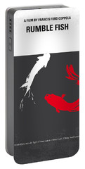No073 My Rumble Fish Minimal Movie Poster Portable Battery Charger