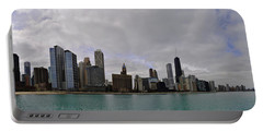 Portable Battery Charger featuring the photograph North Of Navy Pier From The Series Chicago Skyline by Verana Stark