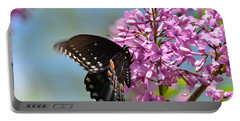 Nothing Says Spring Like Butterflies And Lilacs Portable Battery Charger