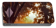 November Sunrise Portable Battery Charger by Bill Owen