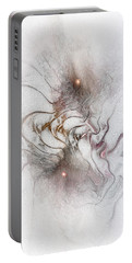 Portable Battery Charger featuring the digital art Nuanced by Casey Kotas