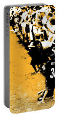 Number 1 Bettis Fan - Black And Gold Portable Battery Charger