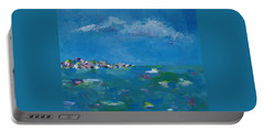Portable Battery Charger featuring the painting Ocean Delight by Judith Rhue