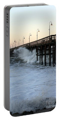Ocean Wave Storm Pier Portable Battery Charger
