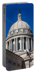 Oklahoma State Capitol Dome Portable Battery Charger by Doug Long