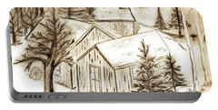 Portable Battery Charger featuring the drawing Old Colorado by Shannon Harrington