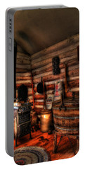 Old Log Cabin Portable Battery Charger