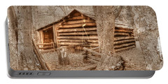 Old Mill Work Cabin Portable Battery Charger by Dan Stone