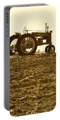 Old Tractor I In Sepia Portable Battery Charger