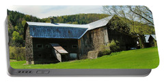 Portable Battery Charger featuring the photograph Old Vermont Barn by Sherman Perry