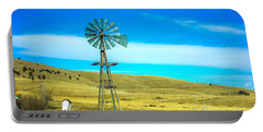 Portable Battery Charger featuring the photograph Old Windmill by Shannon Harrington