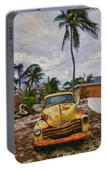 Old Yellow Truck Florida Portable Battery Charger by Garry Gay