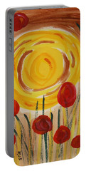 On A Sunny Island Portable Battery Charger by Mary Carol Williams