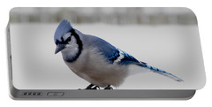 Portable Battery Charger featuring the photograph Blue Jay by Maciek Froncisz