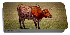 One Lone Longhorn Portable Battery Charger by Doug Long